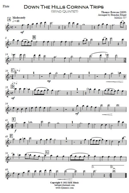 070 Down the Hills Corinna Trips Woodwind Quintet SAMPLE page 06