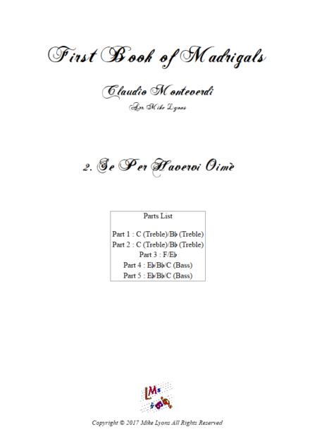 Madrigals Book 1 2