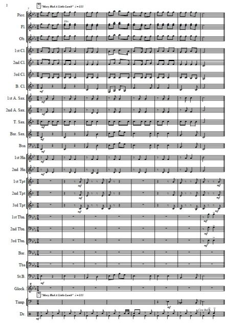 010 The Nursery Rhyme Suite Concert Band SAMPLE page 02