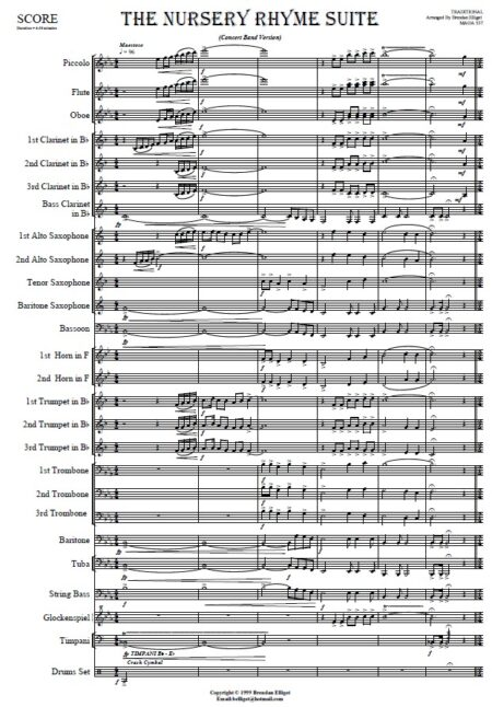 010 The Nursery Rhyme Suite Concert Band SAMPLE page 01