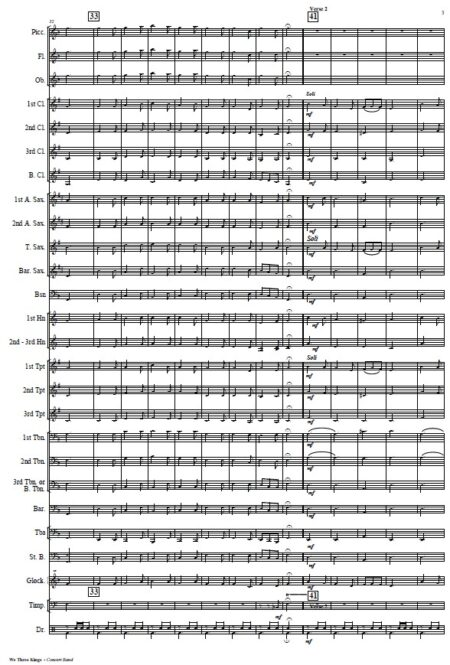144 We Three Kings Concert Band Orchestra SAMPLE page 03