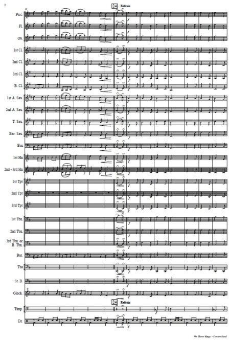 144 We Three Kings Concert Band Orchestra SAMPLE page 02