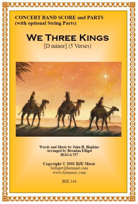 144 FC We Three Kings CB with strings