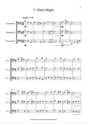 Carols for Three – 15 Carols for Cello Trio
