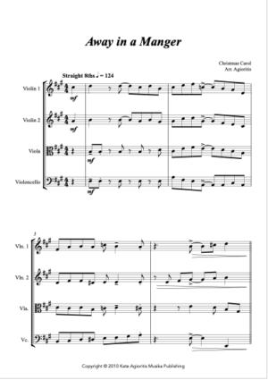 Away in a Manger – Rock Carol for String Quartet