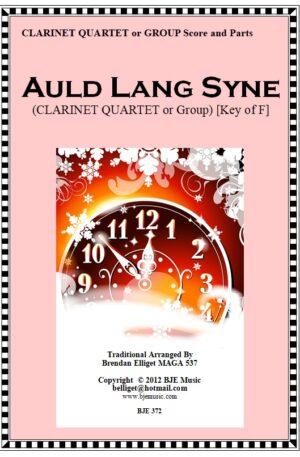 Auld Lang Syne – Clarinet Quartet or Group