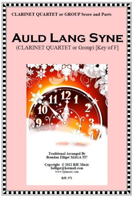 372 Auld Lang Syne CLARINET QUARTET