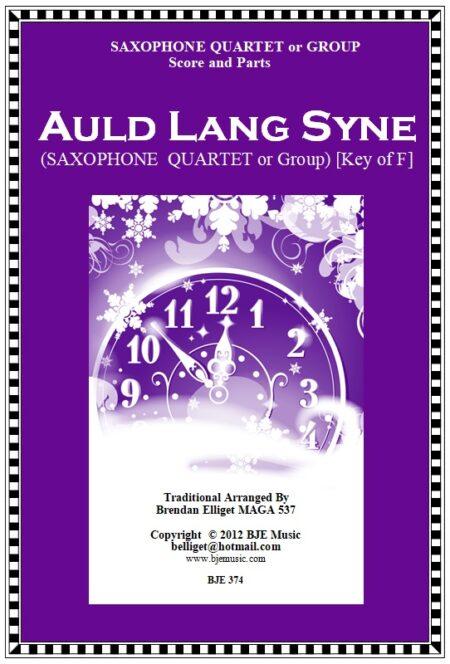 374 Auld Lang Syne SAXOPHONE QUARTETor Group
