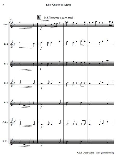 375 Auld Lang Syne Flute Quartet or Group SAMPLE page 06