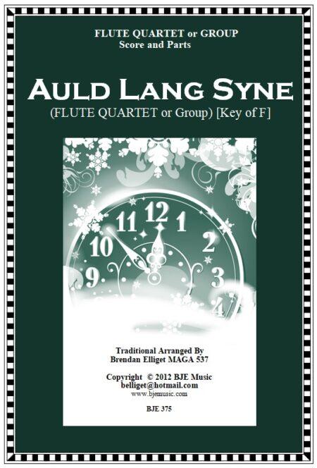 375 FC Auld Lang Syne FLUTE Quartet
