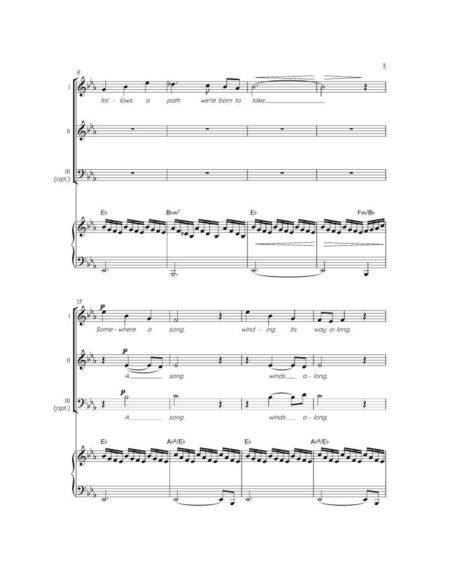 SOMEWHERE - SA/SAB choir & piano