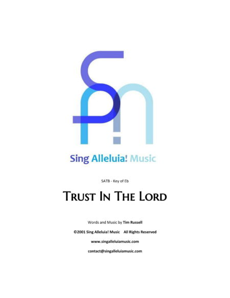 Trust In The Lord CS 1