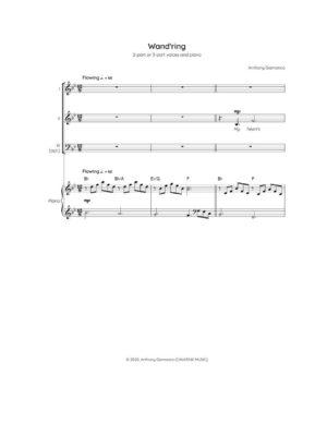 WAND'RING – 2-part/3-part choir & piano