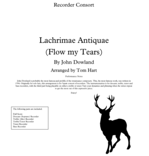 Flow my Tears – Recorder Ensemble