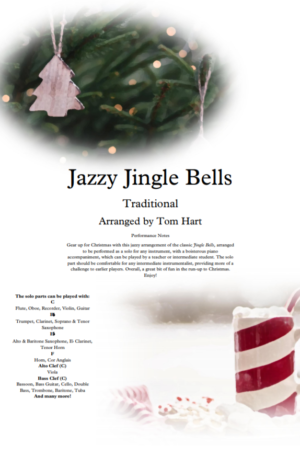 Jazzy Jingle Bells – Instrumental Solo and Piano