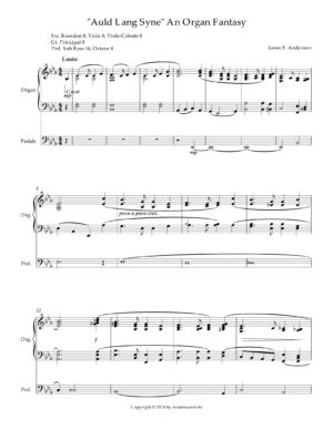 """""""Auld Lang Syne"""" An Organ Fantasy"""