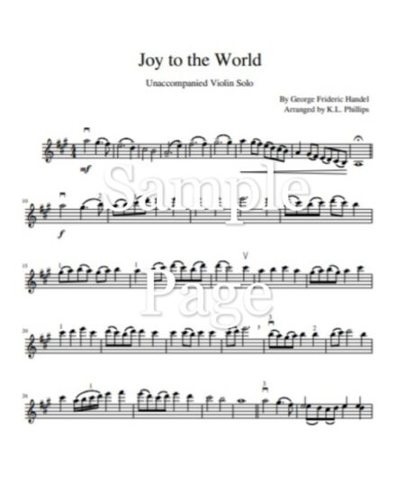 JOy to the World sample