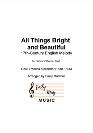 All Things Bright and Beautiful (for Flute and Clarinet Duet)
