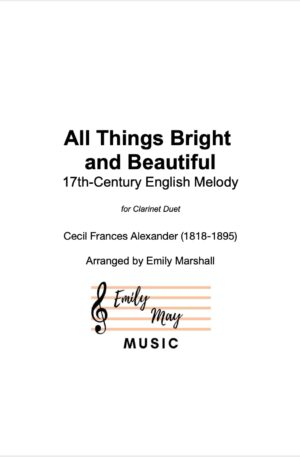 All Things Bright and Beautiful (for Clarinet Duet)