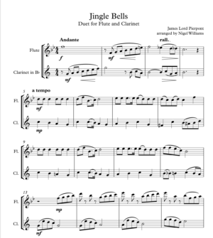 Jingle Bells, Duet for Flute and Clarinet