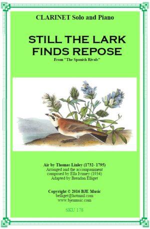Still The Lark Finds Repose – Solo Clarinet and Piano