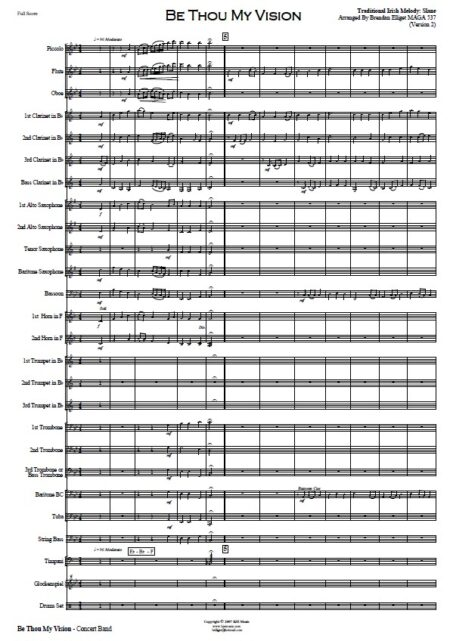 042 Be Thou My Vision CB with Strings SAMPLE page 01