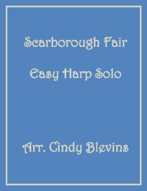 Scarborough Fair, Easy Harp Solo with recording
