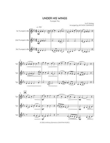 UNDER HIS WINGS trumpet trio 1