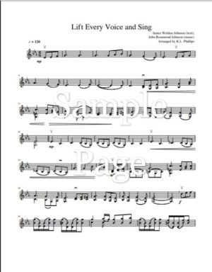 Lift Every Voice and Sing – Unaccompanied Violin Solo
