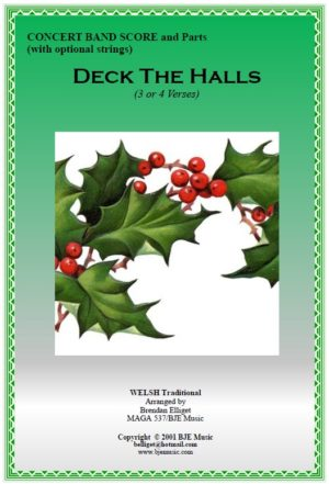 Deck the Halls – Concert Band (with optional String Parts)