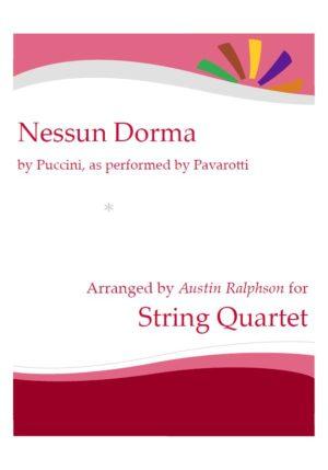 Nessun Dorma – string quartet