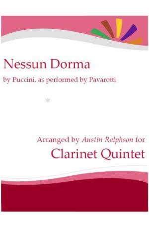 Nessun Dorma – clarinet quintet