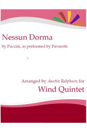 Nessun Dorma – wind quintet