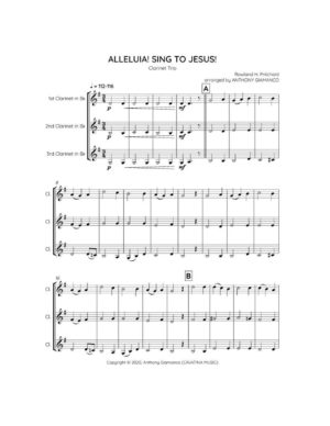 ALLELUIA! SING TO JESUS! – clarinet trio