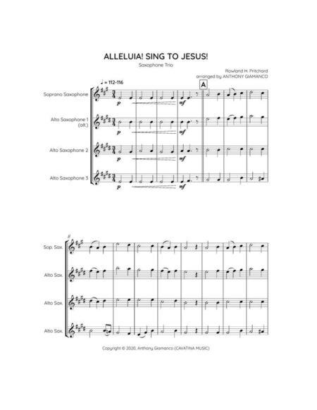 Alleluia! Sing to Jesus! - sax trio