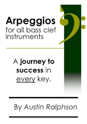 Arpeggio book (arpeggios) for all BASS CLEF instruments