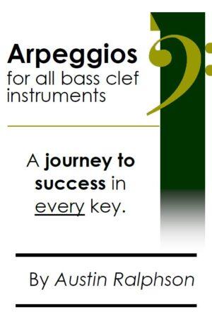 Arpeggio book (arpeggios) for all BASS CLEF instruments