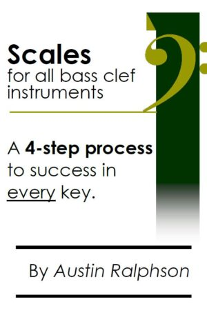 Scale book (scales) for all BASS CLEF instruments
