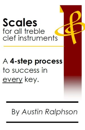 Scale book (scales) for all TREBLE CLEF instruments
