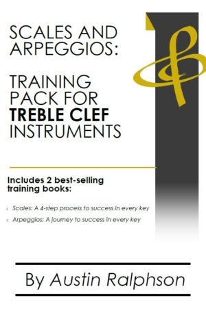 Scales and arpeggios book (pack) for all TREBLE CLEF instruments