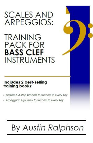 Scales and arpeggios book (pack) for all BASS CLEF instruments