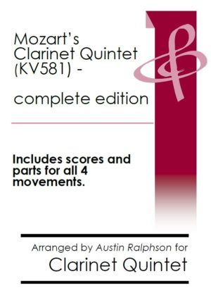 Mozart Clarinet Quintet KV581 (complete – all 4 movements) – clarinet quintet