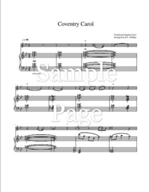 Coventry Carol – Violin Solo with Piano Accompaniment