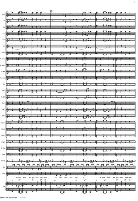 191 The Virgin Mary Had A Baby Boy Concert Band SAMPLE page 03