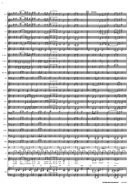 191 The Virgin Mary Had A Baby Boy Concert Band SAMPLE page 02
