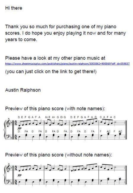 HMK easy piano score