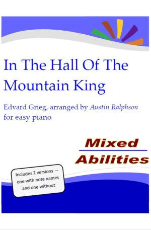 HALLOWEEN: In The Hall Of The Mountain King – for easy piano