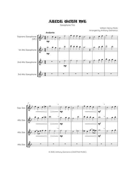 ABIDE WITH ME - sax trio