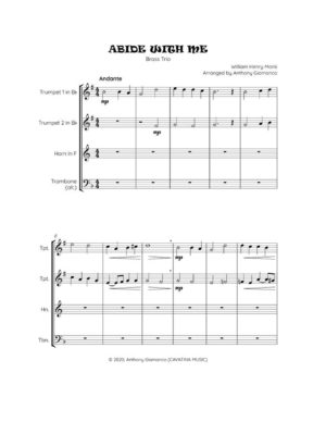 ABIDE WITH ME – Brass Trio