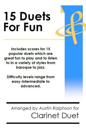 15 Clarinet Duets for Fun (popular classics)